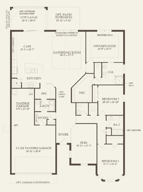 Amberwood - The Place Floor Plan