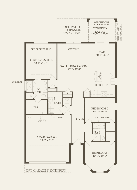 Marina Floor Plan single family home Floor Plan