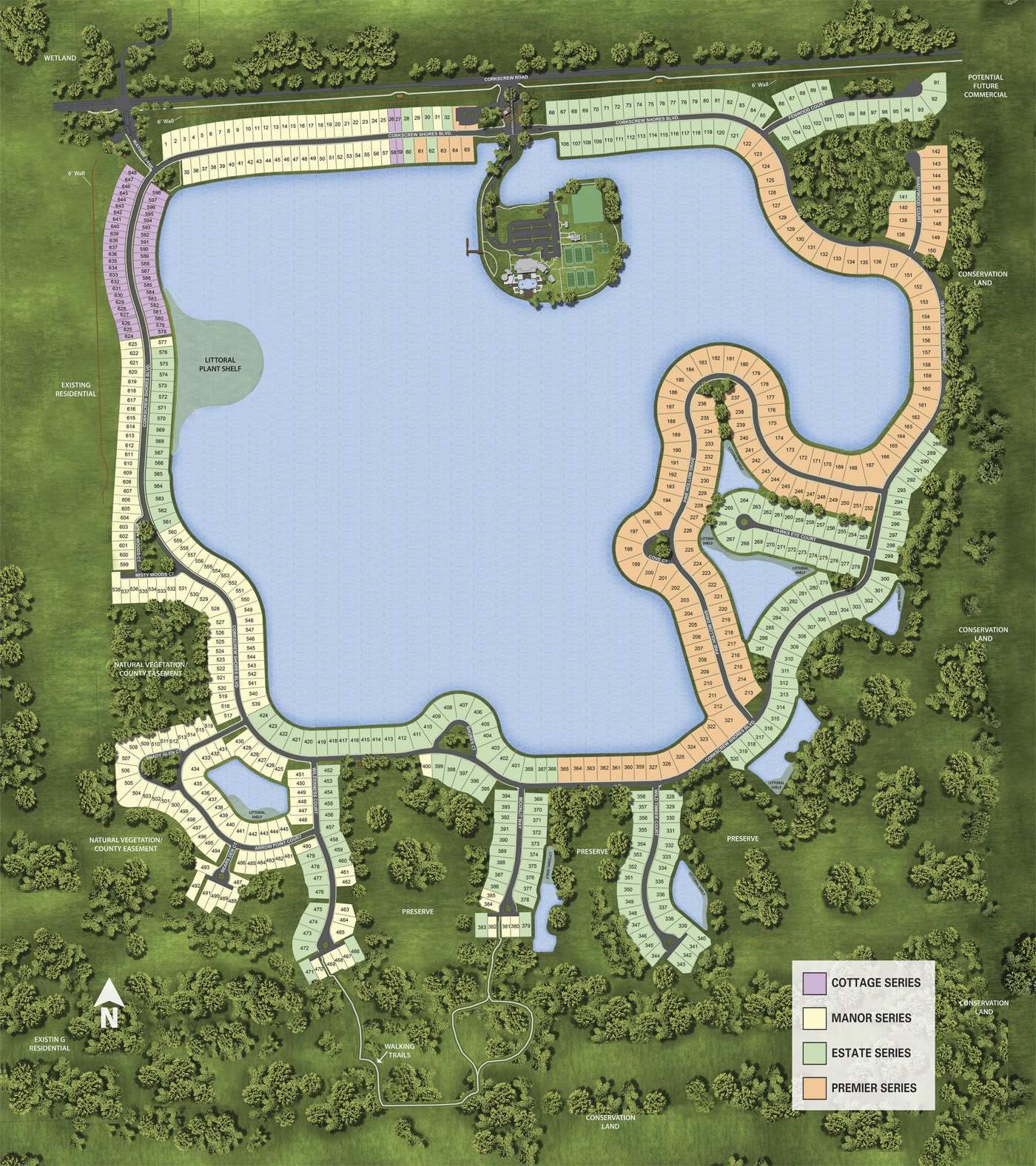Corkscrew Shores Map