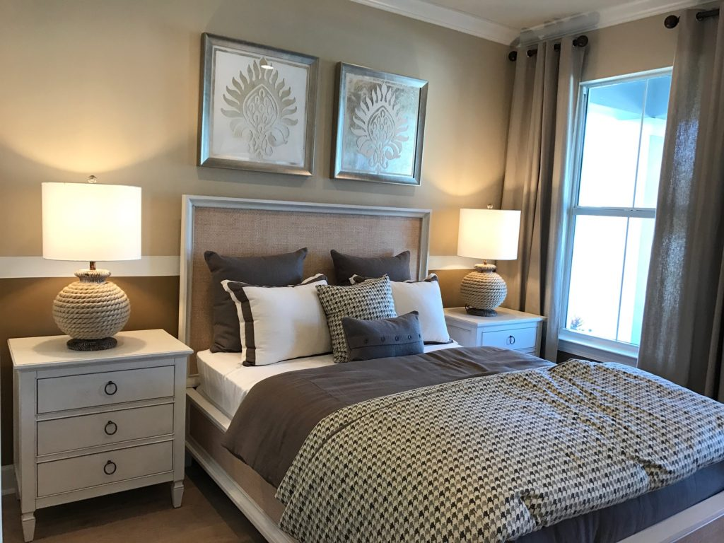Master Bedroom decor warm colors