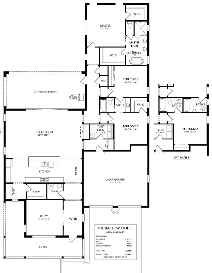 Barton Floor plan Babcock Ranch