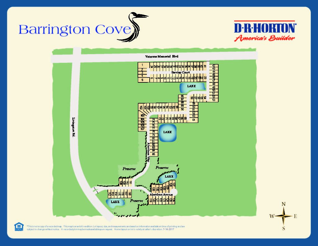 Barrington Cove Site Plan
