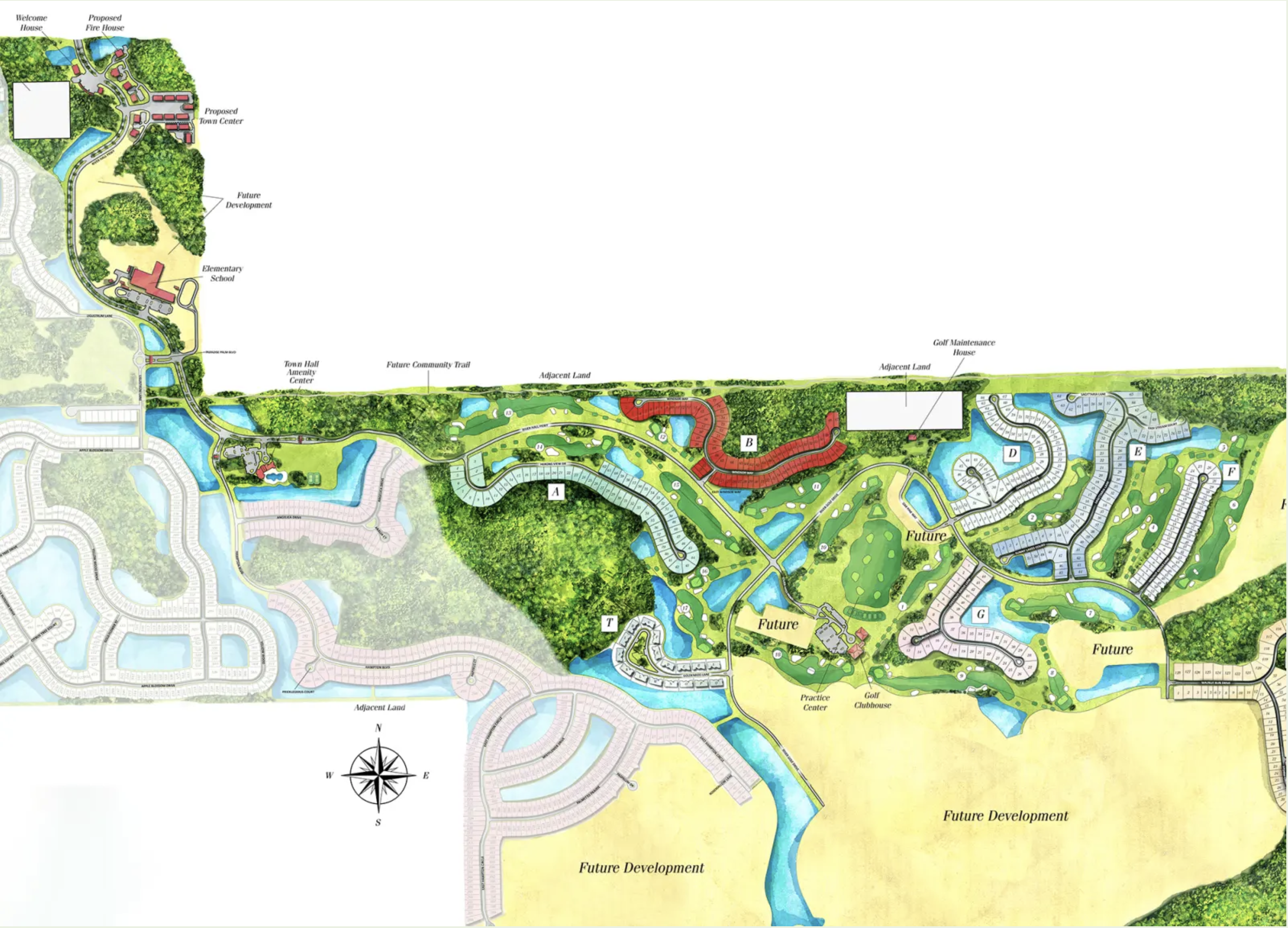 River Hall Country Club Site Map